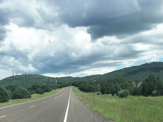 Driving to McDonald Observatory, Mt. Fowlkes (left) and Mt. Locke (right) Source: Palmia Observatory)