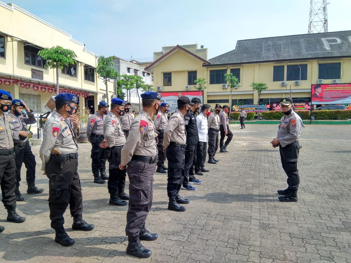 Polda Lampung gelar Operasi aman Nusa II-Penanganan Covid-19, tahap V