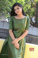 Akshitha cute beauty in Green Salwar at Satya Gang Movie Audio Success meet ~  Exclusive Galleries 037.jpg