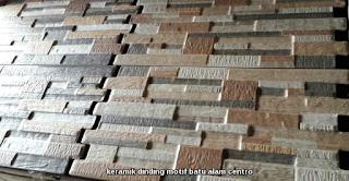 keramik dinding motif batu alam centro