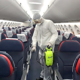 Sensitizing EgyptAir airplane at Cairo International Airport