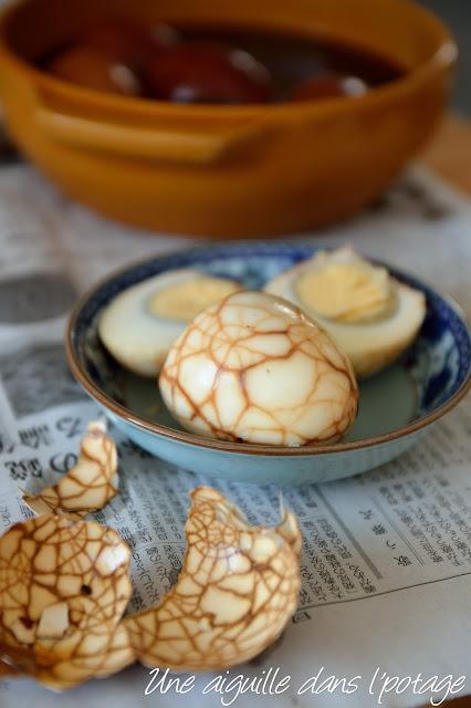 Œufs marbrés au thé et cinq-épices 五香茶葉蛋