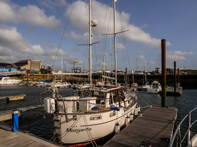 Photo of dry and bright but windy at Maryport Marina on Sunday