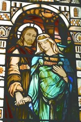 Vidriera en la Iglesia Kilmore, Dervaig-Escocia