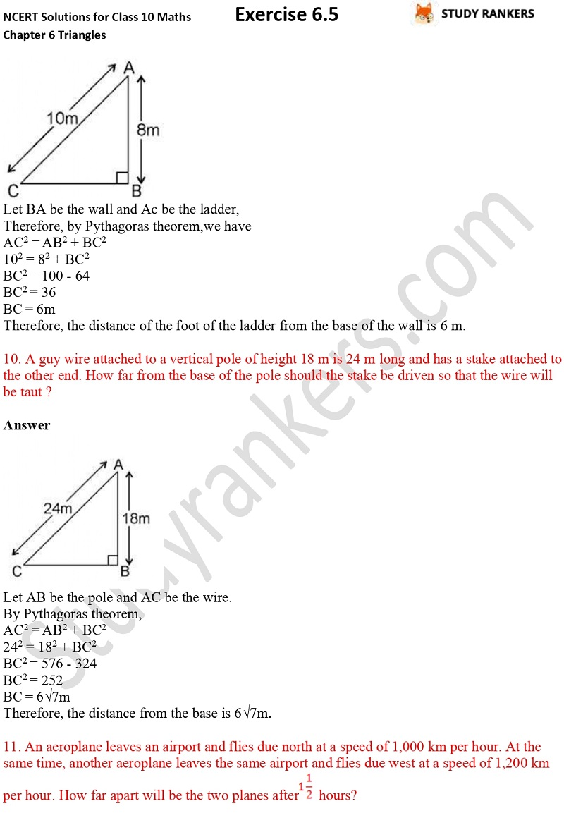 NCERT Solutions for Class 10 Maths Chapter 6 Triangles Exercise 6.5 Part 7