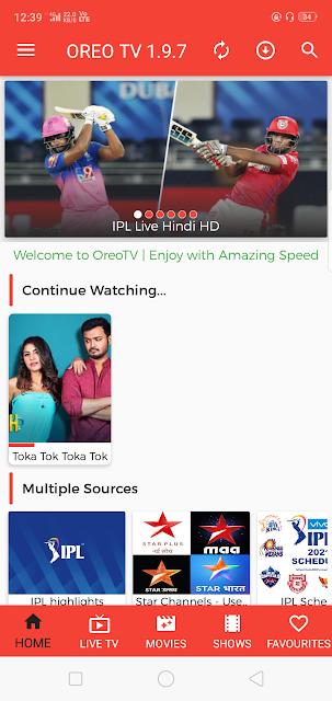 Oreo TV Apk download