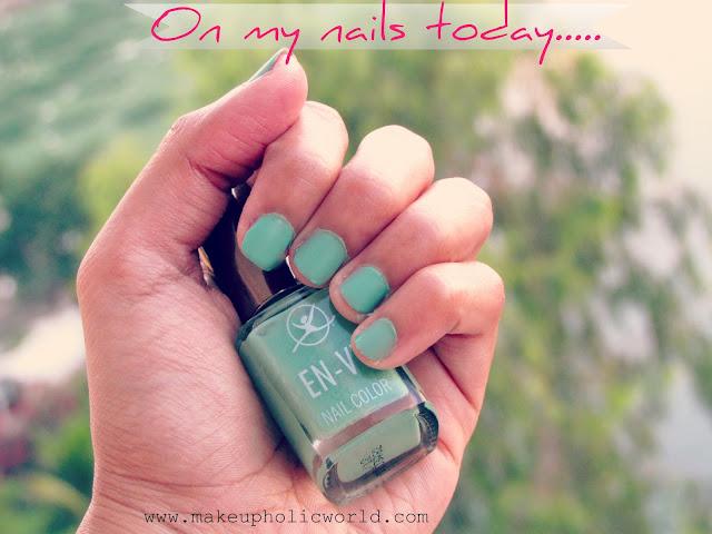 On my Nails Today: Envy Nail Polish; Shade: Earthy Green ...