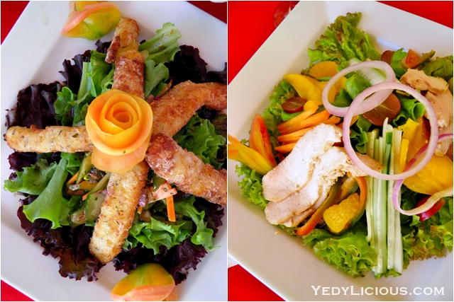 Cheese Stick and Mandarin Salad at Don Vito of Boracay Mandarin island Hotel