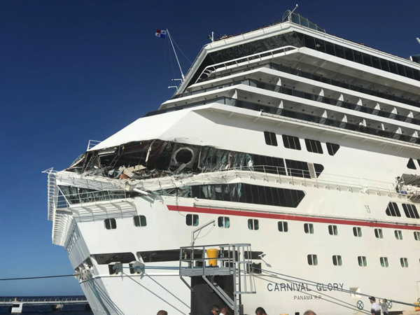 Cruise ships collide off Mexican port of Cozumel-1