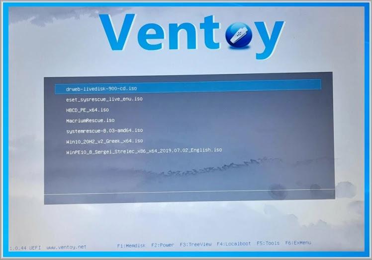 Ventoy :   Η  καλύτερη εφαρμογή  boottable αρχείων ISO σε USB με δυνατότητα εκκίνησης