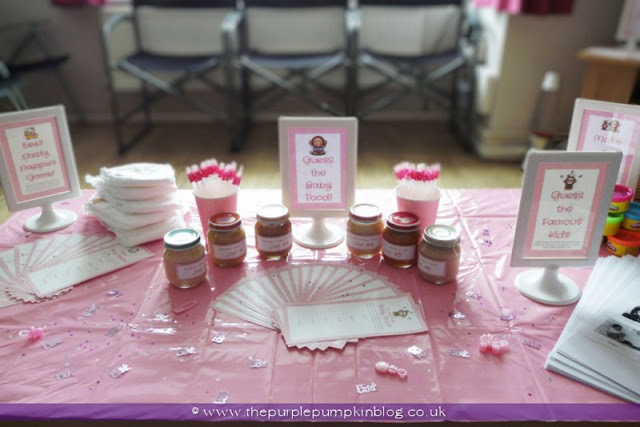 Pink Flavoured Baby Shower at The Purple Pumpkin Blog