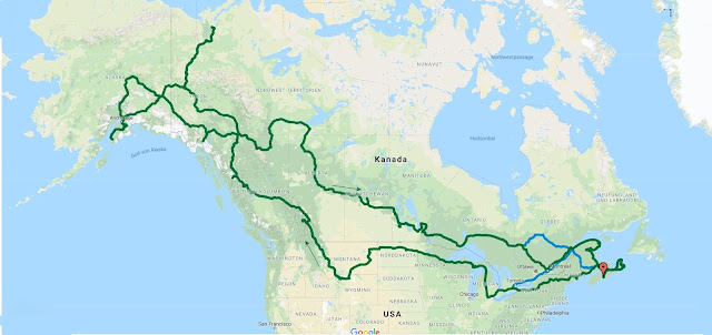 Route der Tour Kanada / USA