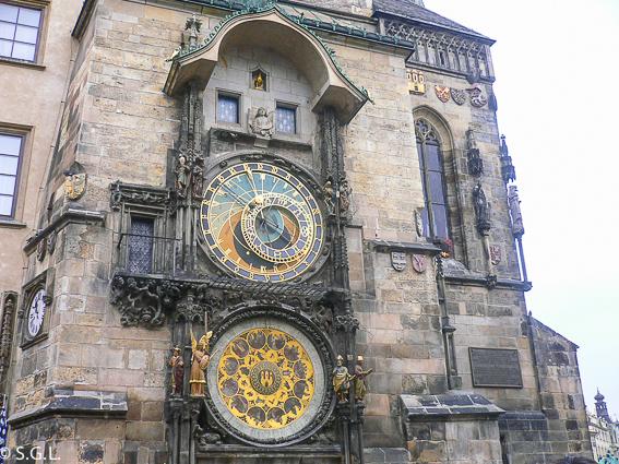 Reloj astronómico de Praga en el ayuntamiento de la ciudad vieja