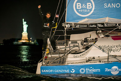 Thibaut Vauchel Camus remporte The Transat en Class40 à New York