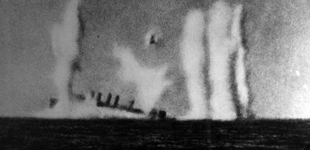 USS Pope under attack, 28 February 1942 worldwartwo.filminspector.com