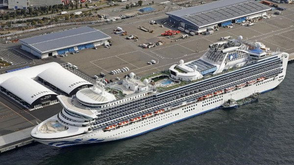 Bertambah, Sudah 64 Orang Positif Virus Corona di Kapal Pesiar Jepang