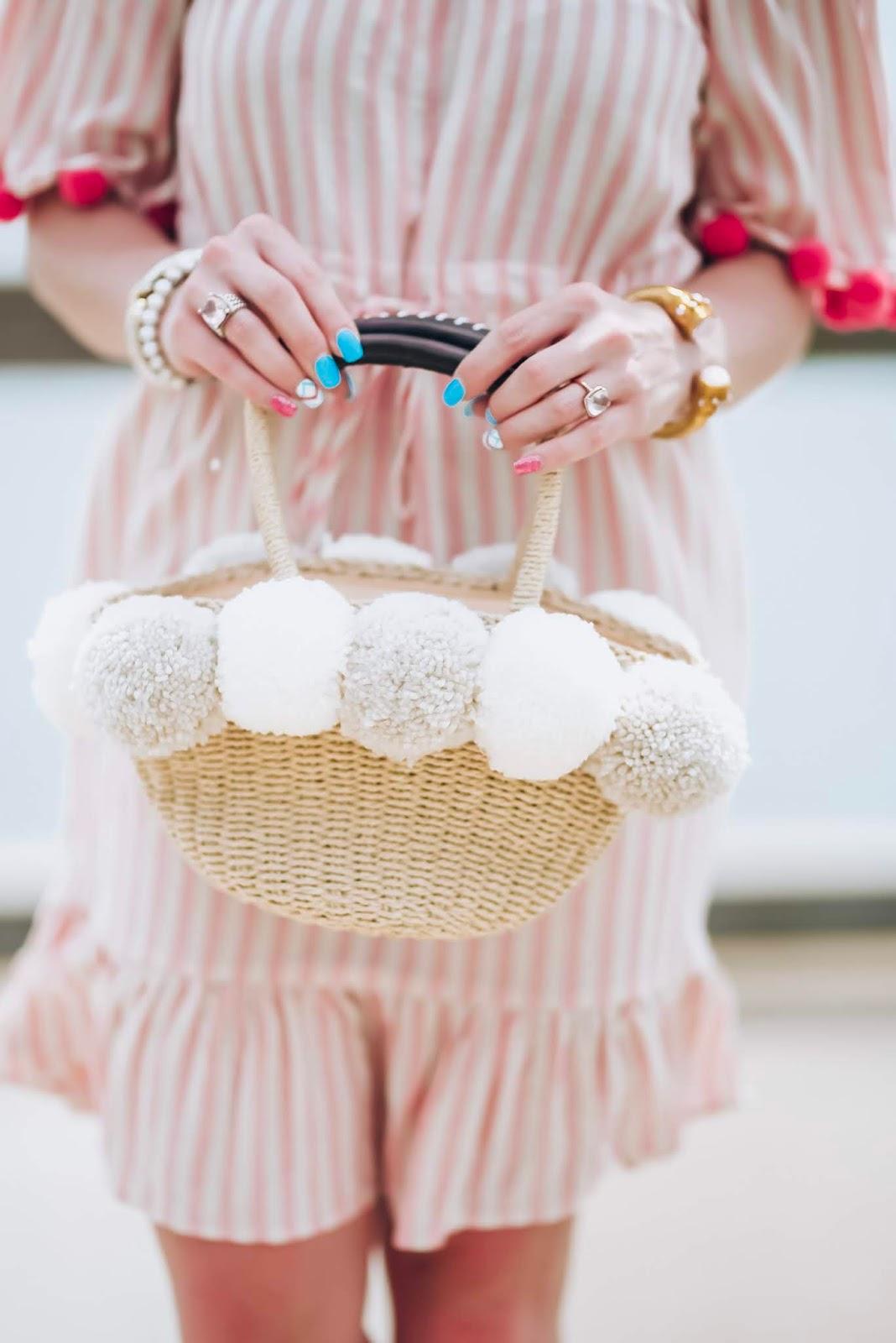 $24 Amazon Pink Stripe Pom Pom Dress + Recent Amazon Finds - Something Delightful Blog