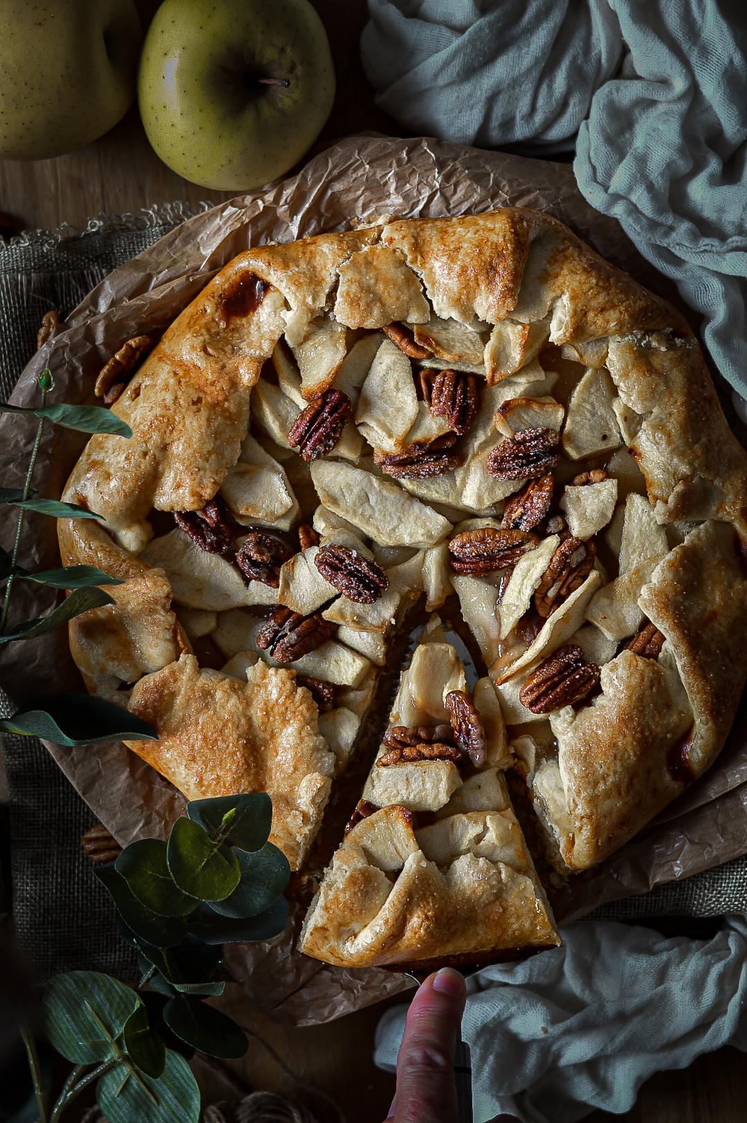 Galette de manzanas y nueces pecanas - TuvesyyoHago