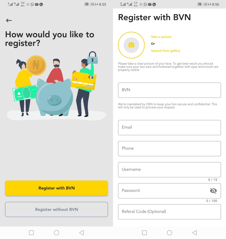 Baxi Mobile app bvn registration
