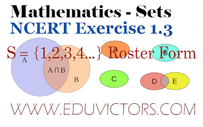 CBSE Class 11 - Chapter Sets - NCERT Exercise 1.3(#class11Maths)(#eduvictors)