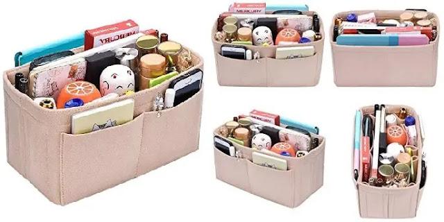 6-Lmeison Felt Fabric Purse Handbag Organizer