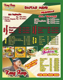 menu pelengkap