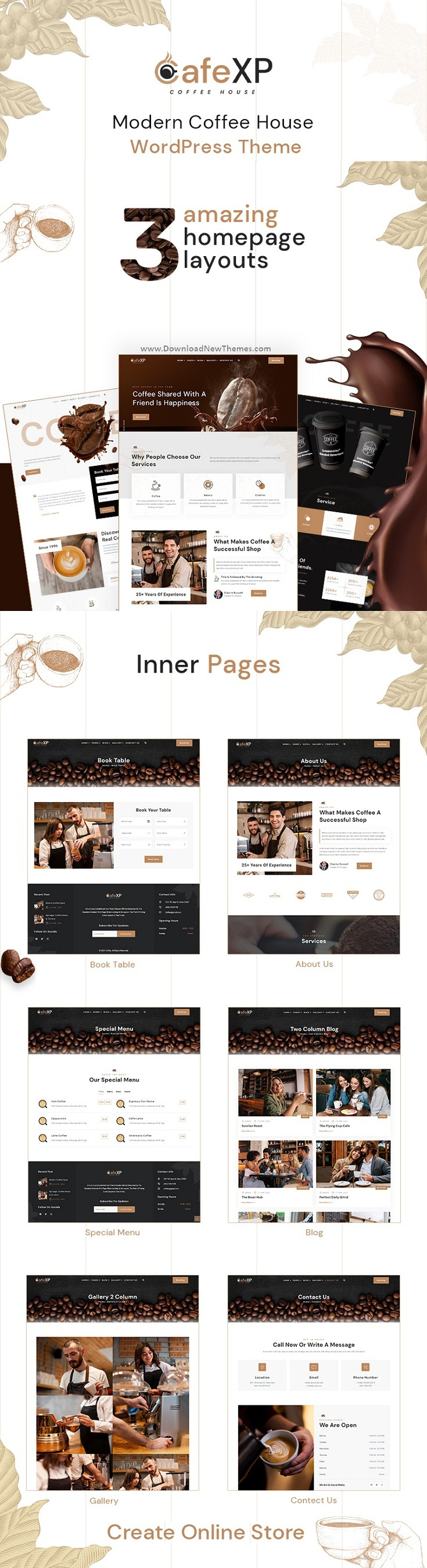 Cafe & Coffee Shop WordPress Theme