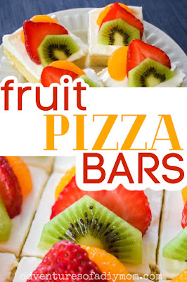 fruit pizza bars with text overlay