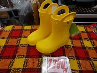 コストコアウトレット、クロックス長靴黄色1290円
