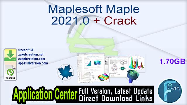 Maplesoft Maple 2021.0 + Crack