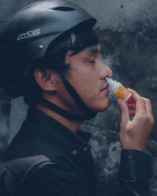 Bersepeda Aman dengan Quixx Nasal Protection sebagai Extra Protection Saluran Pernafasan