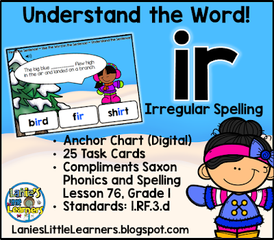 Letter Combination ir (Bossy r): Understand the Sentence!