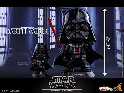 Star Wars: The Original Trilogy Cosbaby Vinyl Figures by Hot Toys - Darth Vader Large Cosbaby Bobble Head Vinyl Figure