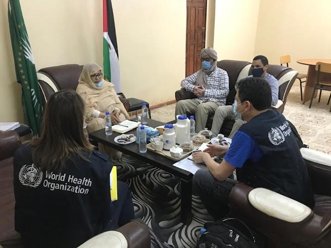 Ante el aumento de los contagios por Covid, la OMS llega a los campamentos saharauis y se reúne con la Ministra de Salud, Jira Bulahi.