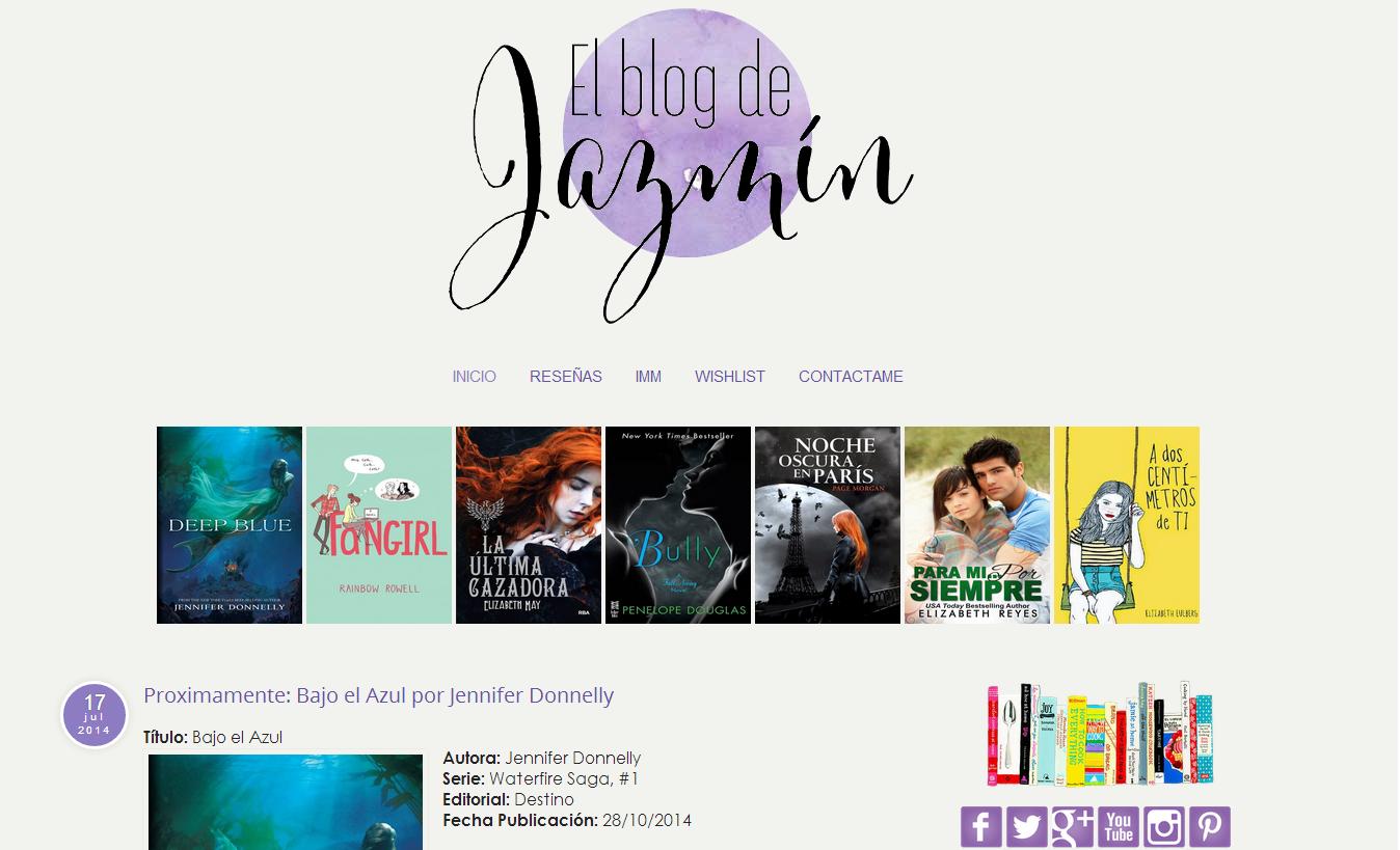 diseño para El blog de Jazmín