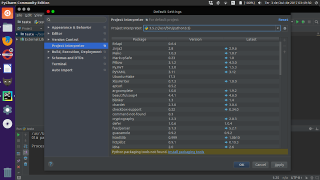 Configurando o Interpretador no PyCharm