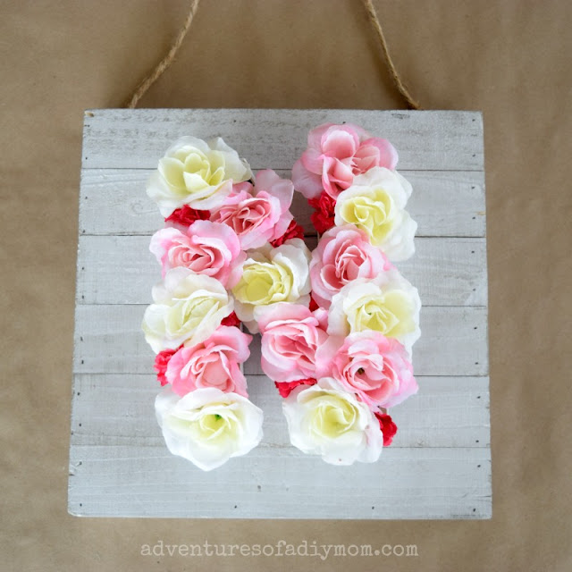 Flower Monogram - an Easy DIY