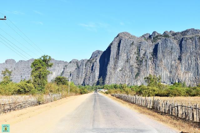 Carreteras en el loop de Thakhek, Laos