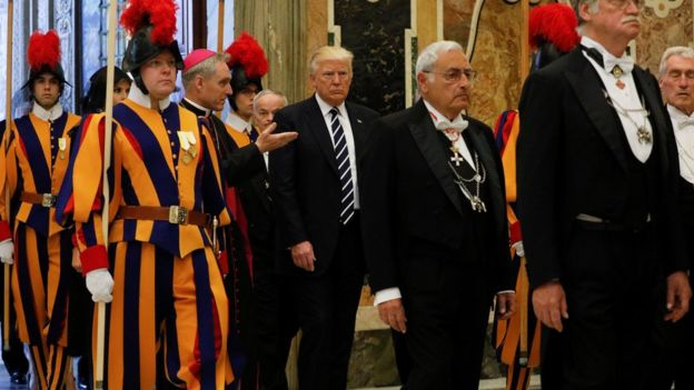 Trump 'determined to pursue peace' after Pope meeting