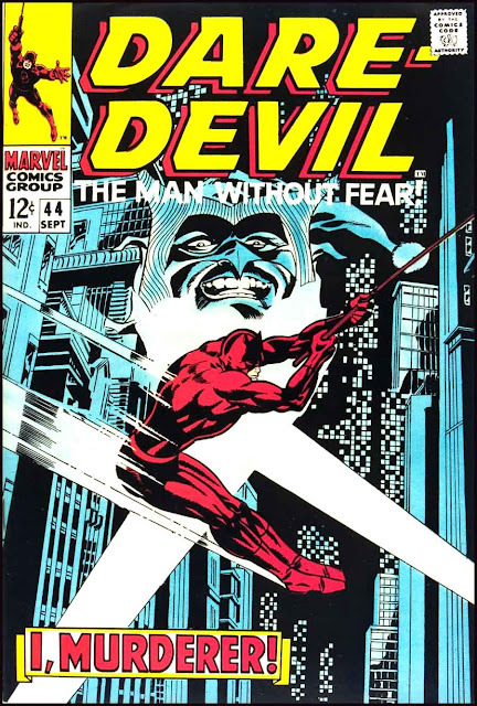 Daredevil v1 #44 marvel 1960s silver age comic book cover art by Jim Steranko
