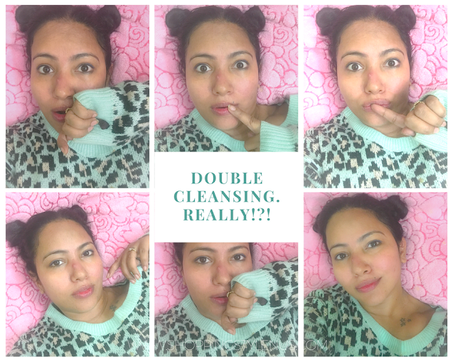 I tried double cleansing method which s just awesome for my 30s skin