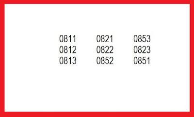 Masing masing Operator yang ada pastinya mempunyai Nomor Awalan dari Nomor yang akan dibu Berapa Nomor Awalan Operator Seluler Telkomsel