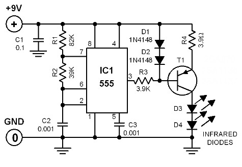 infrared-switch-circuit-diagrams