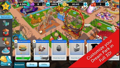 Screenshot RollerCoaster Tycoon Touch Mod Apk