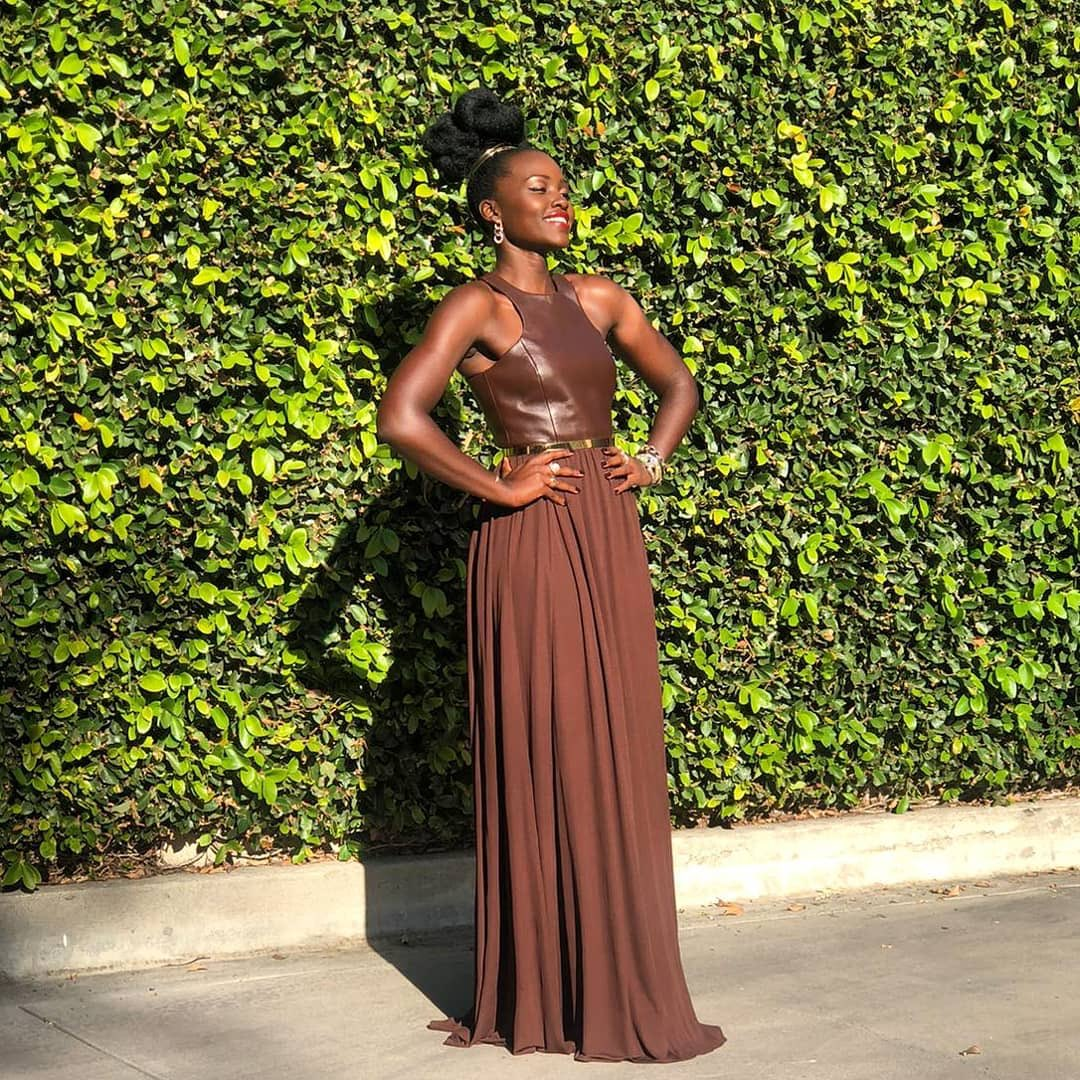 Lupita Nyong'o opts for a sleek style for the 2020 Critics' Choice Awards
