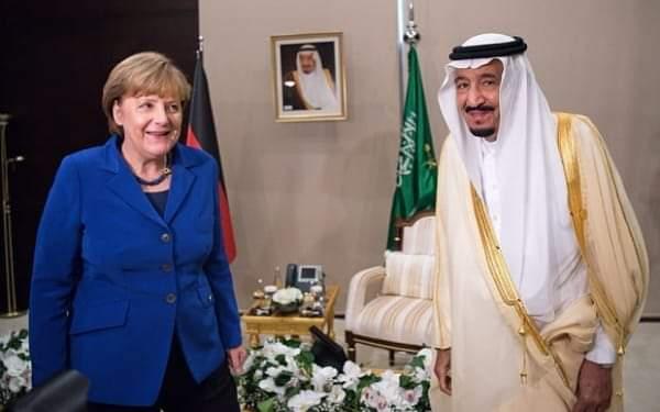 خادم الحرمين الشريفين الملك سلمان  يجري إتصالاً هاتفياً بميركل المستشارة الألمانية لبحث الجهود الموحدة لمجموعة العشرين