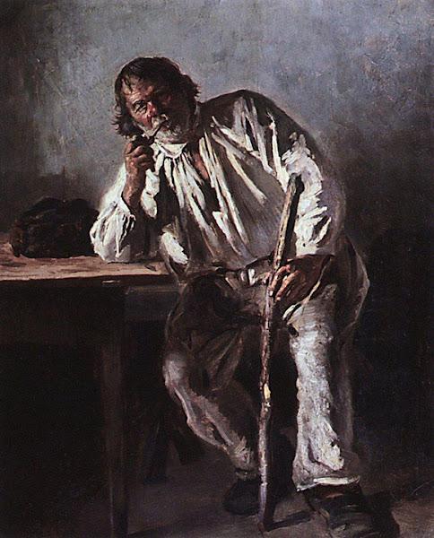 Маковский Владимир Егорович - Старик с трубкой. 1881