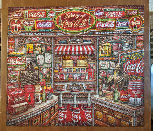 Coke memorabilia puzzle
