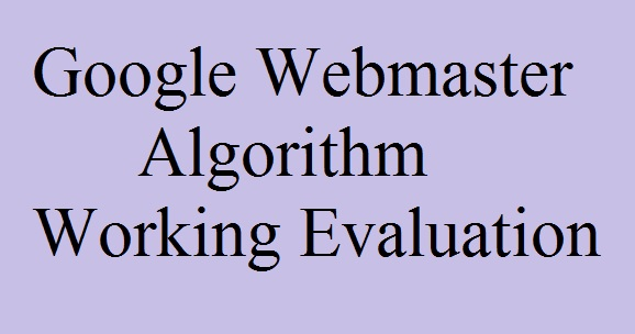 google, webmaster, algorithm