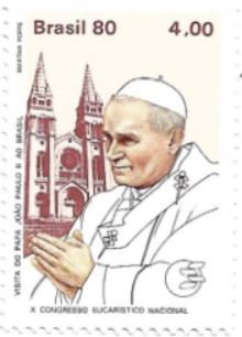 Selo Papa João Paulo II em Fortaleza